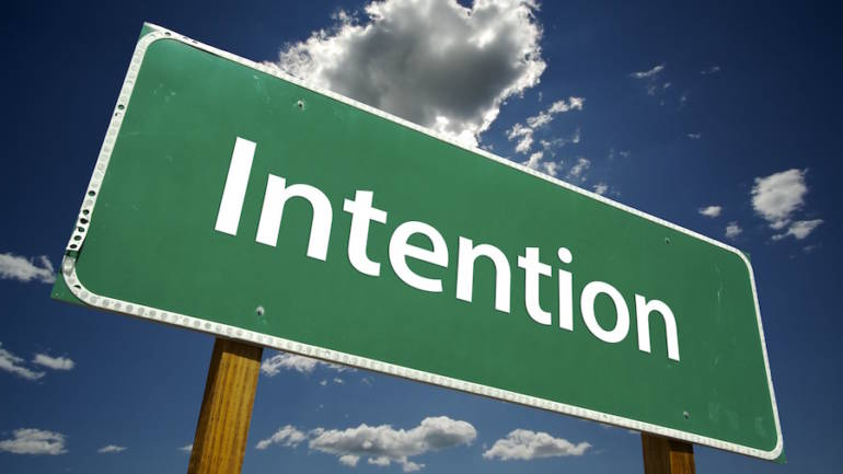 Attention to intentions